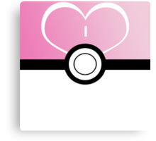 Pokemon Ball Pink Canvas Print