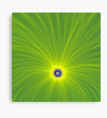 Color Explosion in Green and Yellow Canvas Print