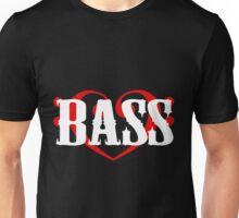 Bass Clef Heart Unisex T-Shirt