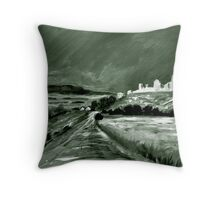 The Pilgrim Road Throw Pillow