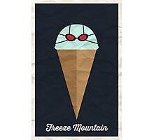 Freeze Mountain Photographic Print