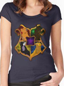 Warrior Cats meets Hogwarts Women's Fitted Scoop T-Shirt