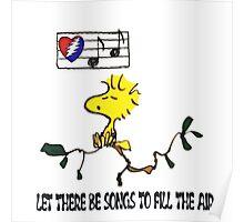 Woodstock sings Poster