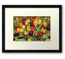 An Ocean Full Of Tulips  Framed Print