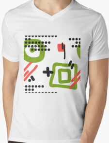 Modern hand draw colorful abstract seamless pattern  Mens V-Neck T-Shirt