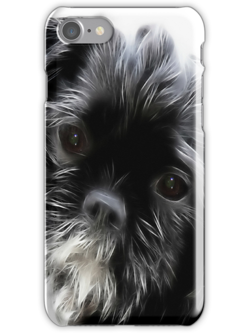 Cute Dog iPhone Case by Vickie Emms