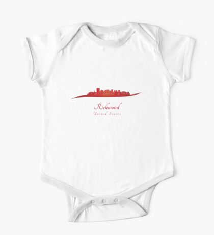 Richmond skyline in red One Piece - Short Sleeve