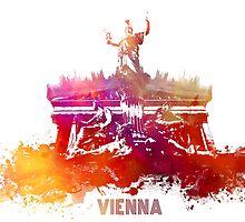 Vienna skyline by JBJart