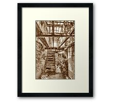 Remains of a house on West Hill Street in Nassau, The Bahamas Framed Print