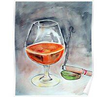 Bourbon and smoke Poster