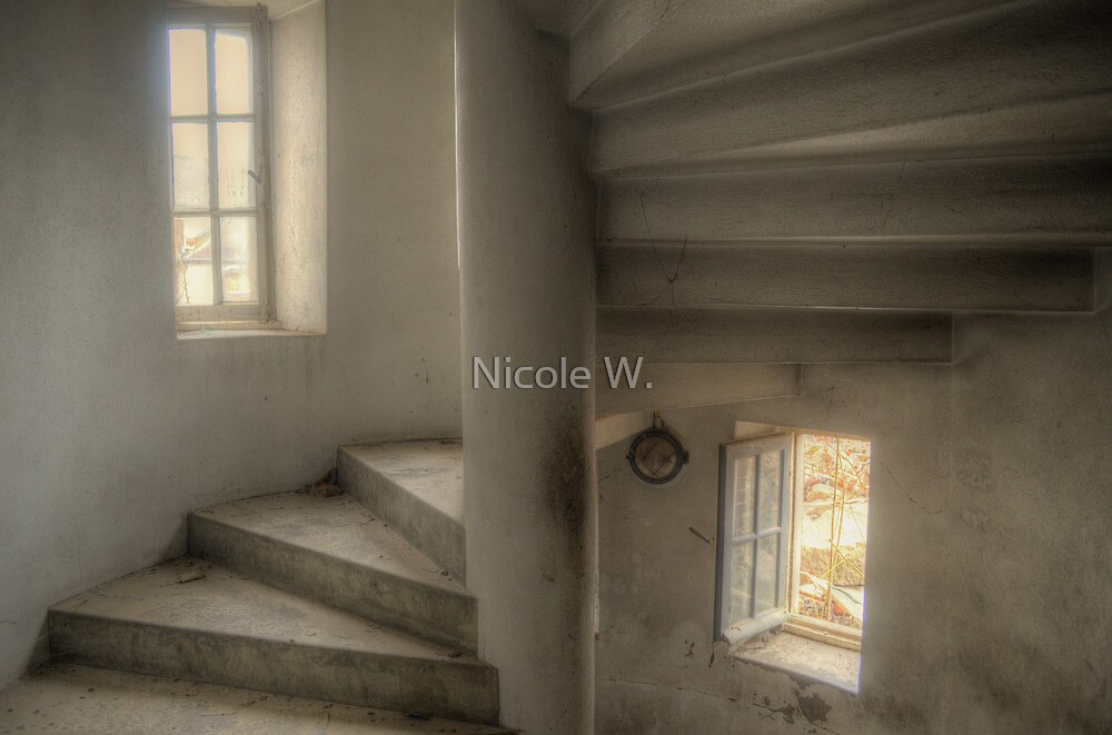 Inside the little tower by Nicole W.