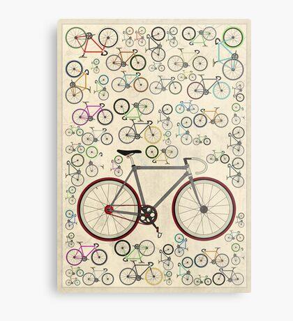 Love Fixie Road Bike Metal Print