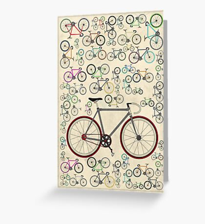 Love Fixie Road Bike Greeting Card