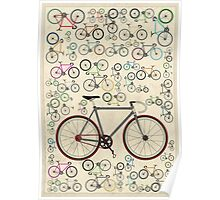 Love Fixie Road Bike Poster