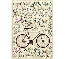 Love Fixie Road Bike Photographic Print