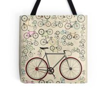 Love Fixie Road Bike Tote Bag