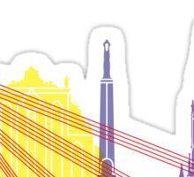 Riga skyline pop Sticker