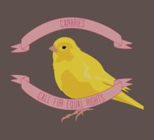 Canaries Call for Equal Rights Baby Tee