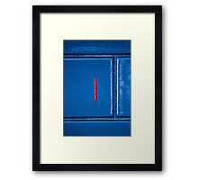 Bool and wall. Framed Print