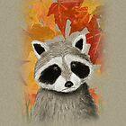 Fall Raccoon by jkartlife