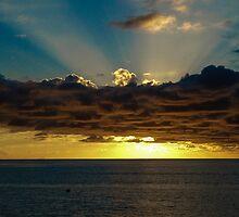 Sunset Soufriere by Inez Wijker