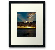 Sunset Soufriere Framed Print