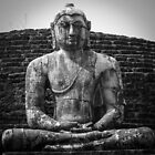 Buddha statue seated around stupa of The Polonnaruwa Vatadage by Inez Wijker