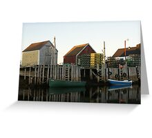 Evening in Blue Rocks Greeting Card