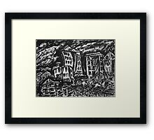 Hitting the Road. Brush Pen Sketch. 2013 Framed Print
