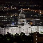 Texas State Capitol at Night - Austin, Texas by RobGreebonPhoto