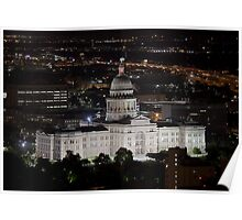 Texas State Capitol at Night - Austin, Texas Poster