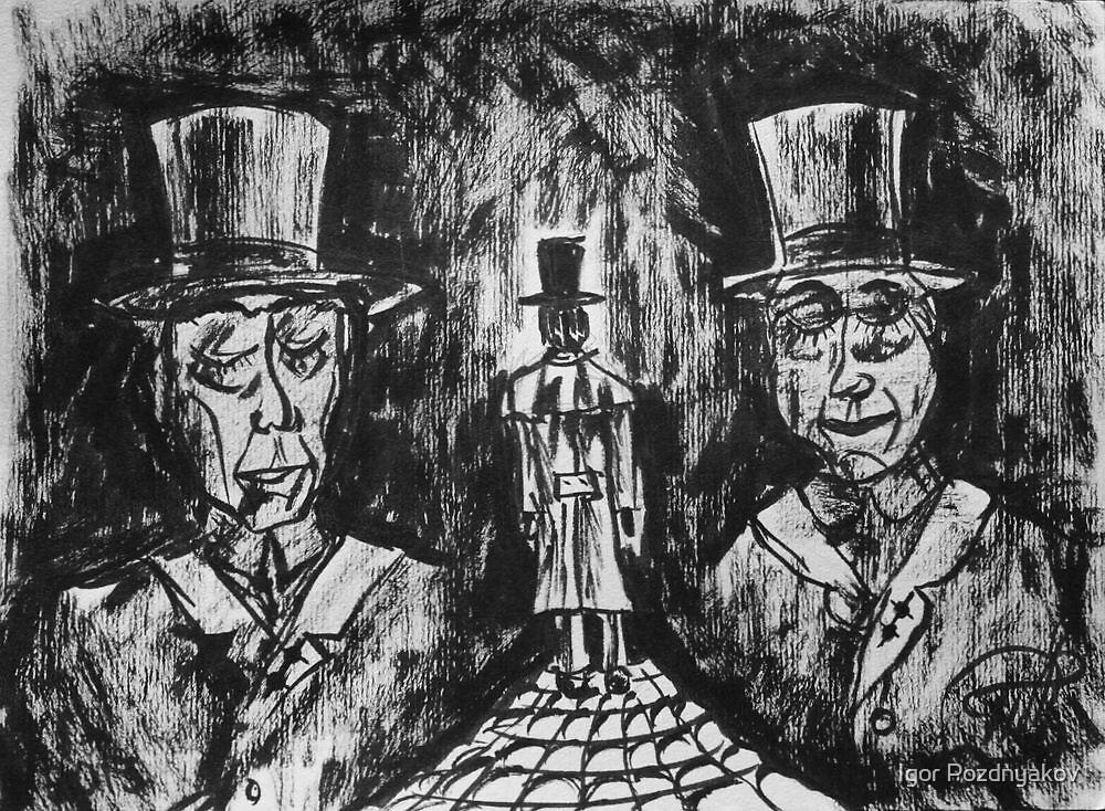 They Won't Answer. Brush Pen Sketch 2013 by Igor Pozdnyakov