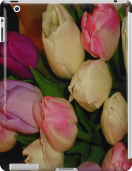 Tulips iPad Case by Fara