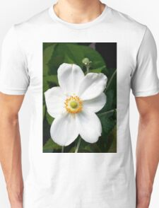 Close-up on a White Flower Unisex T-Shirt
