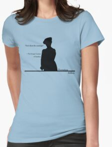 Don't shoot the messenger Womens Fitted T-Shirt