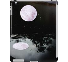 moon reflection in the water / collage iPad Case/Skin