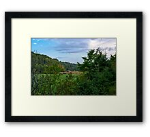 A Barn in the Hills Framed Print