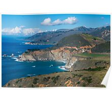 Route 1 Along Big Sur in California Poster