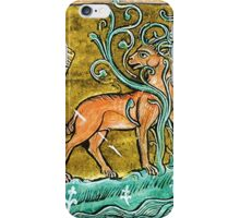 Medieval Knight slaying a Stag iPhone Case/Skin