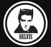 Delvis for BLACK  tshirt by PopGraphics