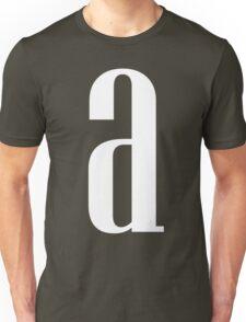 Letter A Print Unisex T-Shirt