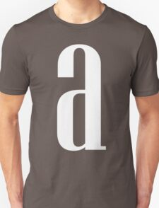 Letter A Print T-Shirt