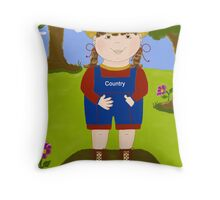 Little Bit Country Throw Pillow