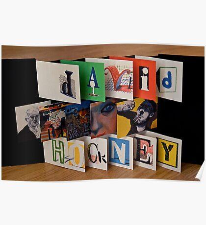David Hockney - Artist's Book Poster