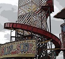 Ghostly Fairground Slide by Kay1eigh