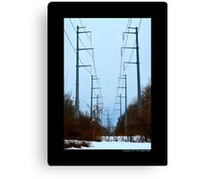 Transmission Towers Behind Nikola Tesla's Wardenclyffe Laboratory - Shoreham, New York Canvas Print