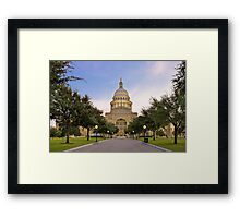 Texas State Capitol at Sunrise - Austin, Texas Framed Print