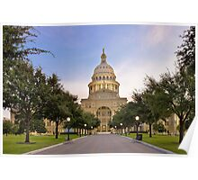 Texas State Capitol at Sunrise - Austin, Texas Poster