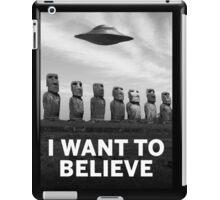 Want2Believe (Moai) iPad Case/Skin