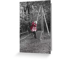 Girl in the Playground Greeting Card